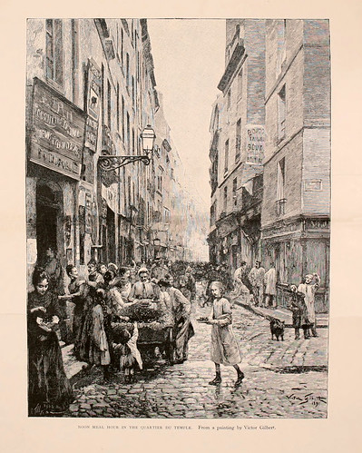 018-Hora de la comida de mediodia en el barrio del Templo-Paris from the earliest period to the present day 1902