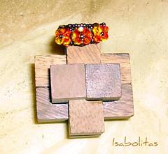 Anillo 3 flores swarovski fire-opal (Isabolitas) Tags: anillos