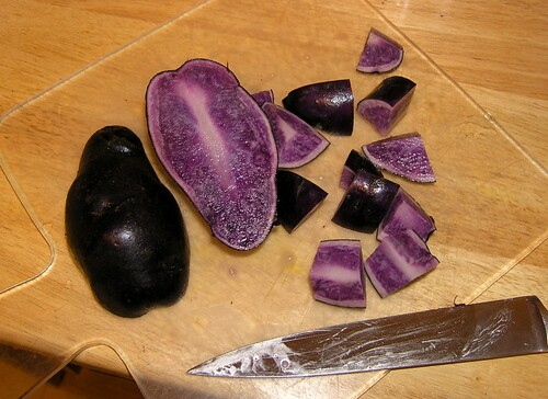 Russian Blue Potatoes