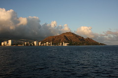DiamondHead. (dL-chang) Tags: city beach clouds hawaii diamondhead ewabeach