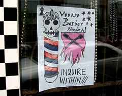 Voodoo Barber Needed! Hawthorne Blvd., Portland, Oregon
