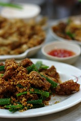 Day 240 - Crispy Fried Pork (JoeGray) Tags: dinner pentax chinese pork garlic fa50mmf14 365daysoffood k20d pentaxk20d