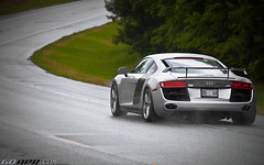 Silver R8 Enjoying the Rain