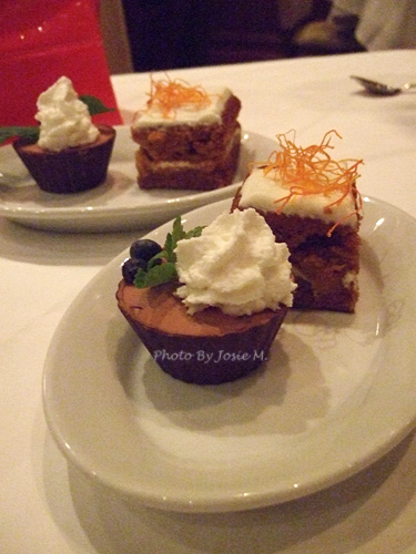 carrot cake & chocolate mousse cup