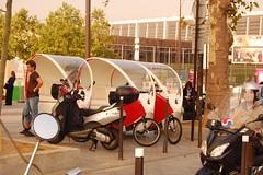 Bicitaxis en París
