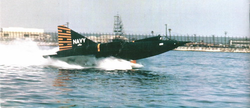 Warbird picture - Navy Convair F2Y-1 Sea Dart on single ski