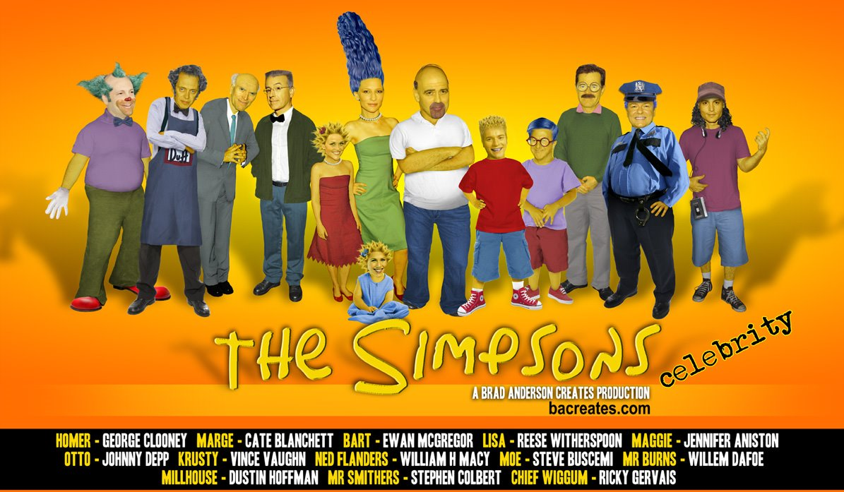 Tebeos De Los Simpsons Fake Real Life Cast For The Simpsons Is Better Than Simpsons Movie