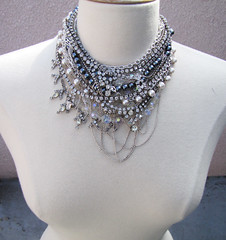 DIY-Tom-Binns-rhinestone-chains-pearl-chunky-choker-collar-necklace-13