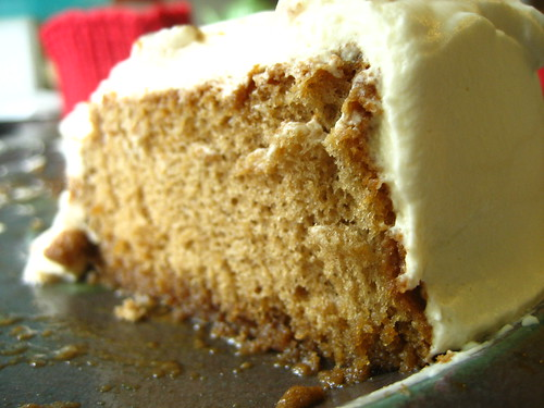 Coffee Chiffon Cake with Dulce de Leche Whipped Cream