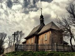 Wooden church / Drewniany kociek (raphic :)) Tags: wood sky church museum wooden village open cross air religion poland polska panasonic christianity skansen dmc lublin koci niebo wie wioska drewniany wiara raphic fz8