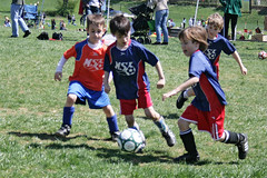early spring soccer game