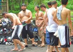 CedarPoint 2B 035 (danimaniacs) Tags: bear park ohio shirtless hairy man hot cute male guy amusement back muscular handsome hunk tanktop cedarpoint sandusky