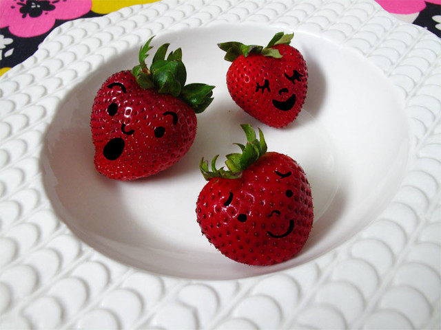 I saw faces on my strawberries!