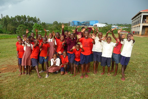 Some of the girls at KCE greeting us upon our arrival