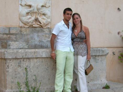 Foto degli sposi in vacanza
