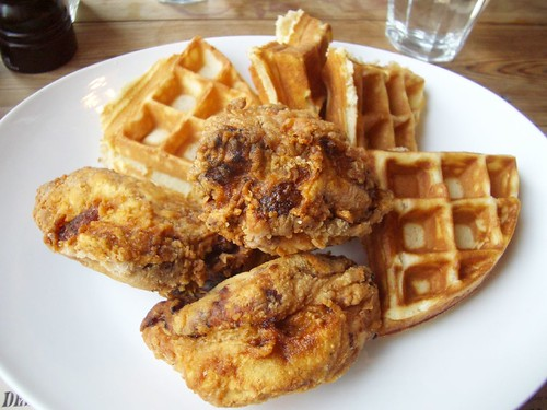 chicken & waffles @ back forty
