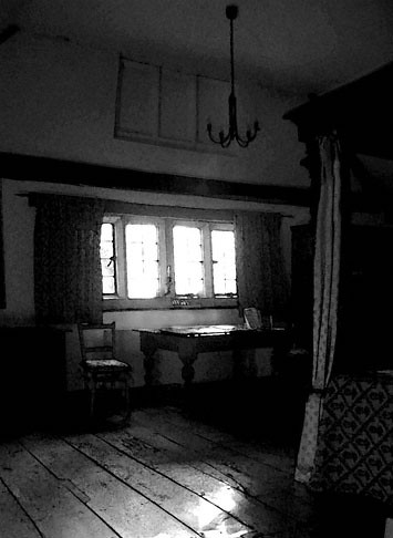 Bedroom at Harvington - a hide is directly above this room