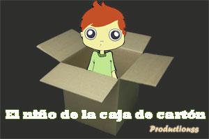 El niño de la caja de cartón