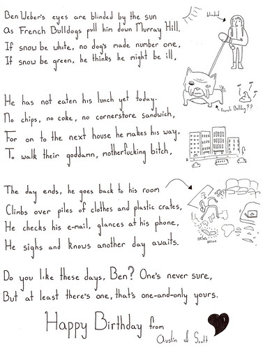Ben Weber's Birthday Poem 2009