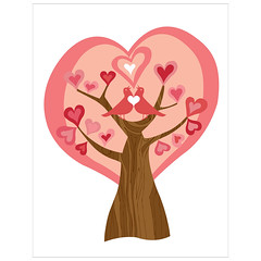Tree of Love (valentinadesign) Tags: pink tree love birds hearts together valentines pick valentinaramos