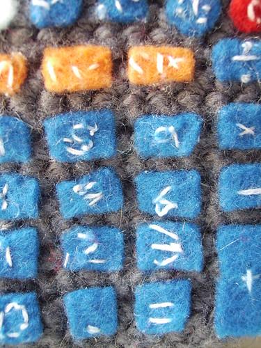 Crocheted Calculator Felt Buttons