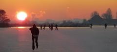Those Dutch skating days in 2009 (Bn) Tags: iceage tramonto celebration wintertime topf100 topf200 waterland nationalholiday frozenlakes holysloot ijspret elfstedentocht ransdorp  naturalice holidayonice 100faves 200faves mywinners holidaysvacanzeurlaub 15degreescelcius holysloterdie winter2009 koekenzopie spontaneouscelebration schaatseninwaterland skateoutdoor schaatsgekte nearbyamsterdam iceskatinginholland skateoutdoors skatingintothesunset funtoskate dutchlovetoskate 1millionpeopleonice natuurijsin2009 skatingmywayhome naturaliceinthenetherland amsterdamhemweg extremelowtemperature kilometersofnaturalice celebrationontheice coldwavehitsholland landelijkgezicht
