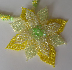 Corona and Lime Tropical Holiday Necklace (fivefootfury) Tags: yellow necklace jewelry corona tropical lime beaded beadwork yellowandgreen beadweaving tropicalholiday coronaandlime ebwteam ebwchallenge