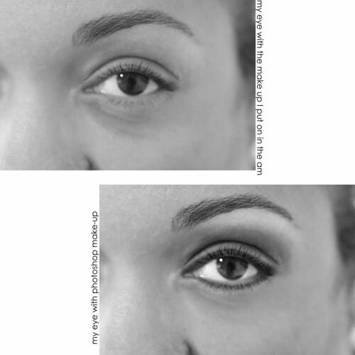 b4 & after eye make up