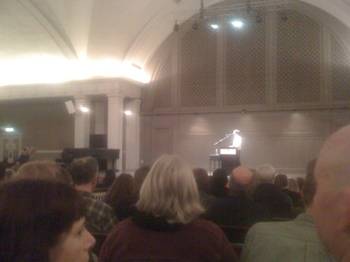 8:36pm Jonah Lehrer at Town Hall. Loving it!