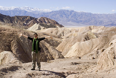 Steph at Zabriskie Point