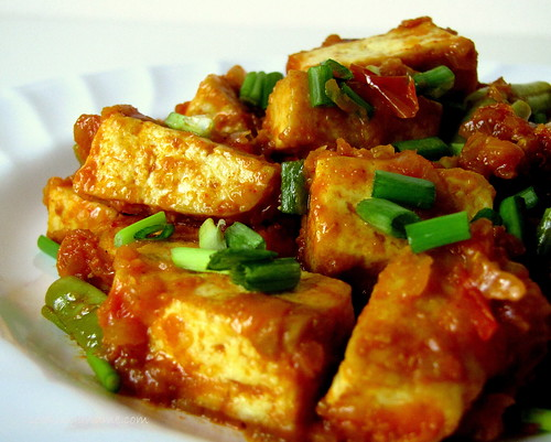 Stir Fried Tofu With Beans