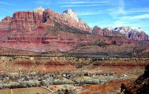 Scenic views around Springdale, UT.  Near Zions National Park.