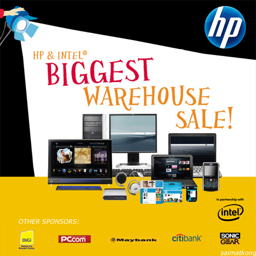 HP & Intel Biggest Warehouse Sale – 3 days only! @ 3 Two Square