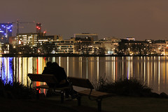 In My Arm (arminMarten) Tags: longexposure nightphotography silhouette night canon nacht hamburg dslr alster telephotolens nachtaufnahme  ef70300mmisusm 400d canon400d teleobjectiv    ausenalster armanh