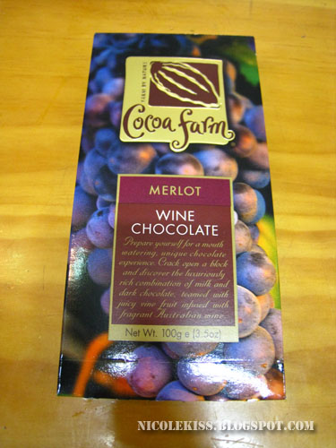 merlot wine chocolate