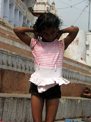 Varanasi, India (Juhi Sidharth) Tags: ghats benaras younggirls indianchildren india2009