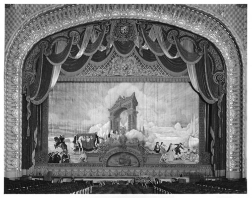 Curtain in the Los Angeles Theatre