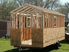 Trussed, and ready to deck, almost! (M.Barkley) Tags: portablehouse tinyhouse minihouse microhouse