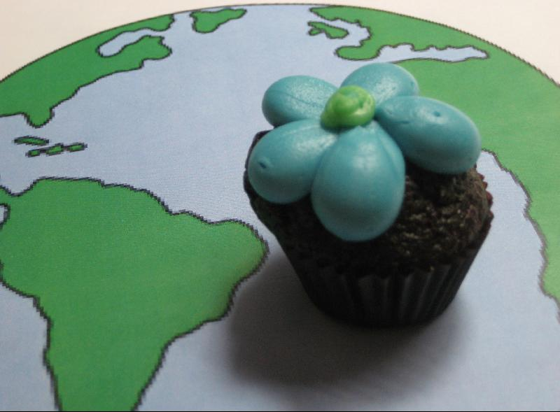 Earth Day cupcake from Sugar Bliss Cake Boutique