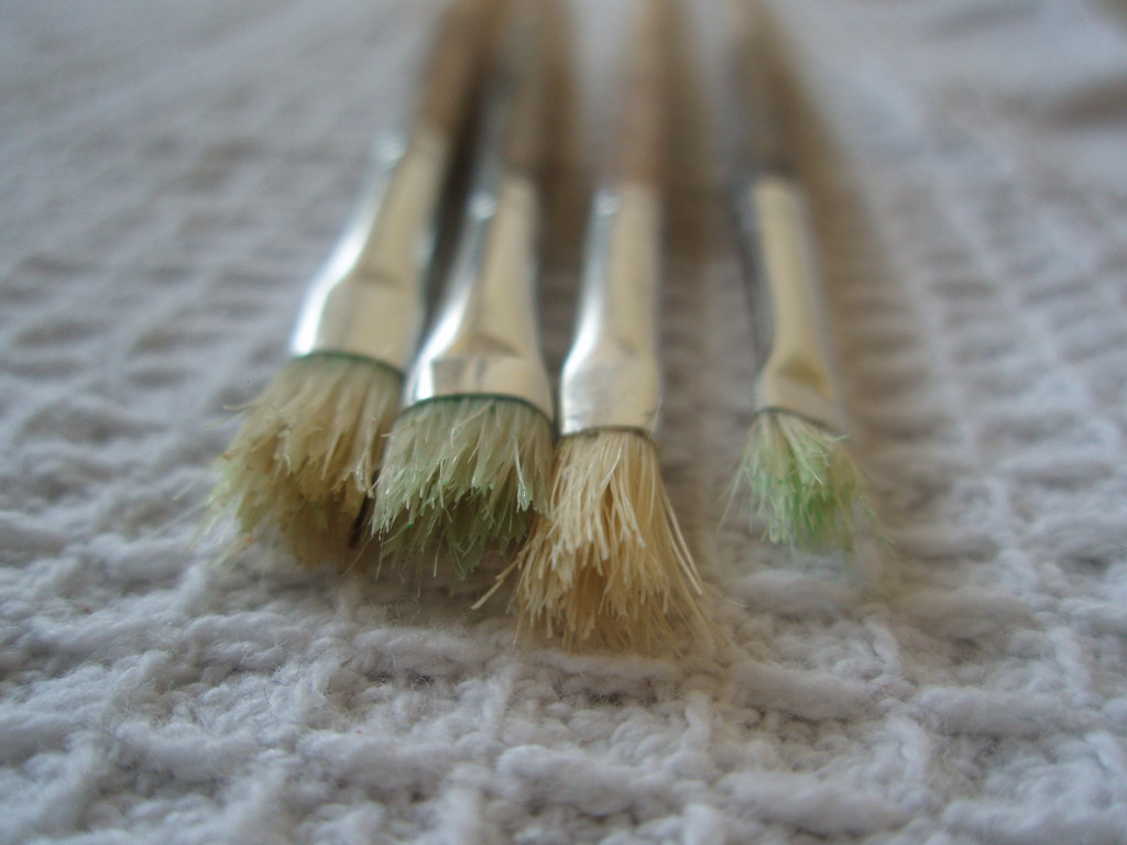 clean brushes...