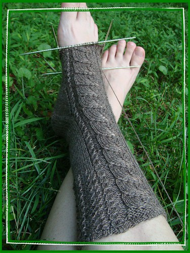 birch leaf sock