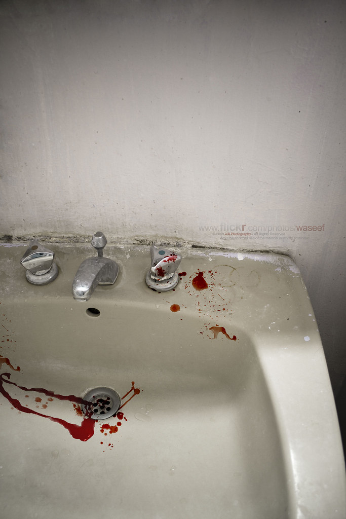 The world 39 s best photos of bleed and sink flickr hive mind for Bleeding when going to the bathroom