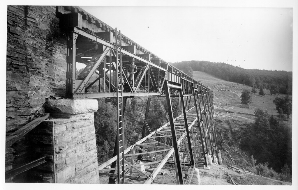 Railroad Trestle (With Man)