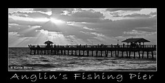 """Daybreak"" (Kevin B Photo) Tags: morning light people blackandwhite bw wet water clouds sunrise fisherman florida cloudy south panoramic southern manmade sunburst fl rays southeast atlanticocean lightbeams sunbeams daybreak crepuscularrays kevinbarry lauderdalebythesea cloudbreaks anglinfishingpier"