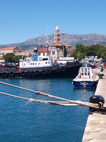 Am Hafen in Split