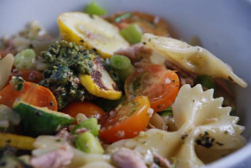 summer pesto squash pasta