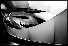 Wrap Around (Mr sAg) Tags: uk blackandwhite bw sculpture white black art contrast manchester mono nikon gallery contemporary stage curves monotone exhibit exhibition arena bach piece commission zara sag auditorium architecure hadid d60 jsbach manchesterartgallery nikond60 zarahadid manchesterinternationalfestival mrsag mrsagguardian