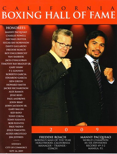 California Boxing Hall of Fame 2009 Program