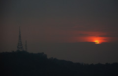 Sunset and tower (alvinclsmy) Tags: sunset tower nikon malaysia pj kualalumpur d80 flickrsbest goldstaraward alvinclsmy
