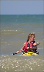 Calais0802 (s.schmitz) Tags: sun france beach sport europe surf kayak waves seakayak watersports calais necky zoar